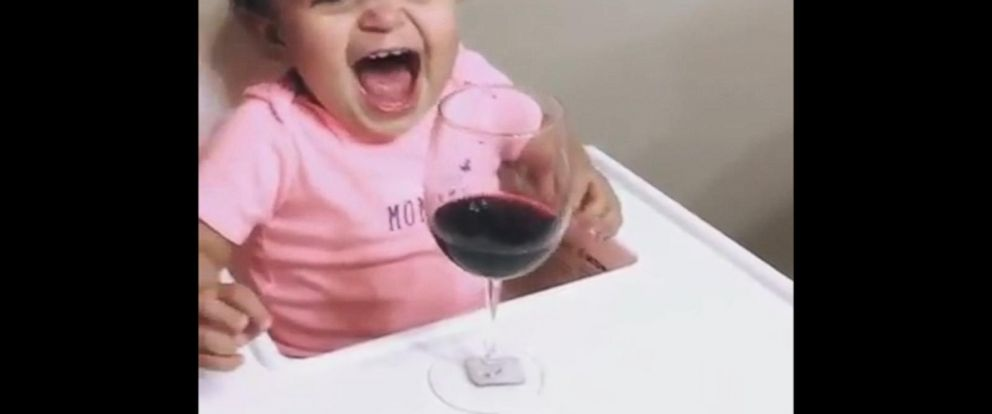 VIDEO: Toddlers Hilarious Reaction to Seeing a Glass of Wine