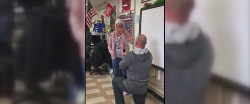 VIDEO: Jason Seifert, 39, confessed his love for Ally Barker, 28, on Feb. 14 in front of their elementary school class in Ohio.