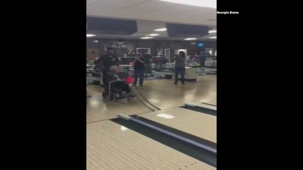 99 Year Old Grandma Shows Off Bowling Skills At Family Party