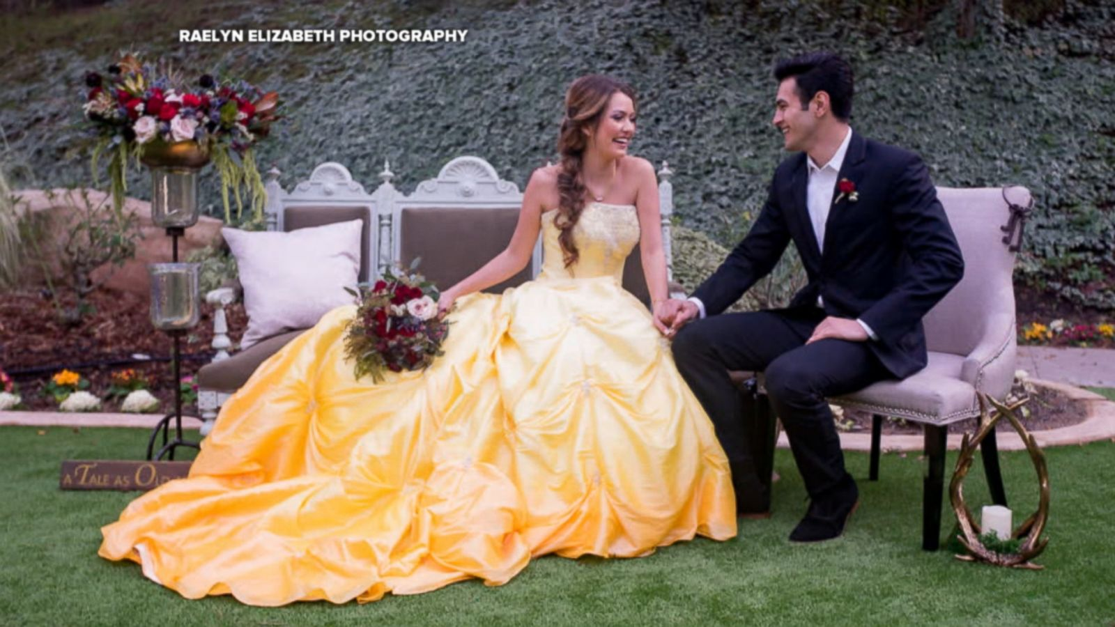 Enchanting Beauty And The Beast Wedding Shoot Will Inspire Belle Themed Brides Abc News
