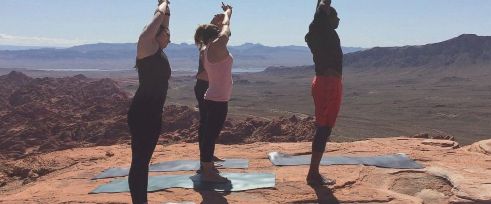 VIDEO: Las Vegas company takes yoga to new heights