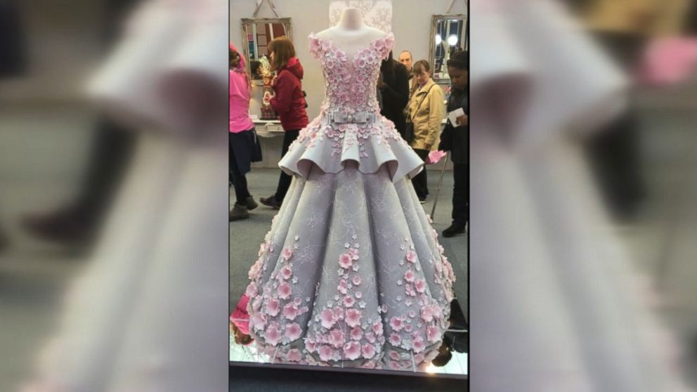 Life Size Wedding Dress Cake Dazzles At Cake Show Abc News,Semi Formal High Low Dresses Wedding Guest