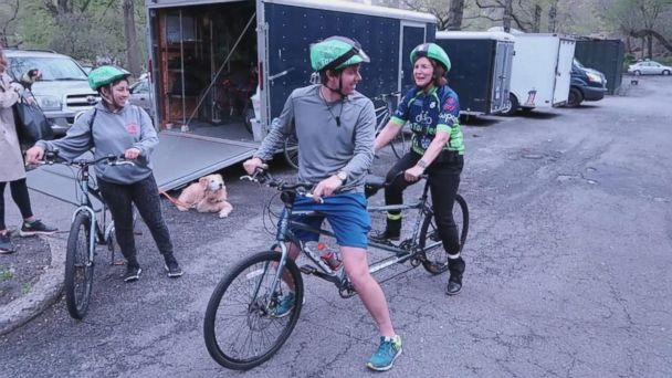 Biking while blind: 'I couldn't believe it'