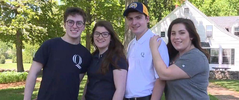 VIDEO: Siblings Michael, Vincent, Sofia and Anna Ciacciarella will all attend Quinnipiac University in the fall.