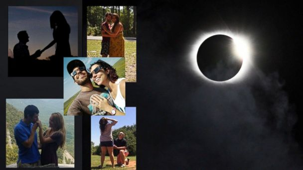 Couples get engaged during total solar eclipse