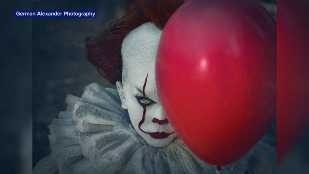 10 Year Old Poses As Pennywise In Incredibly Creepy Photos