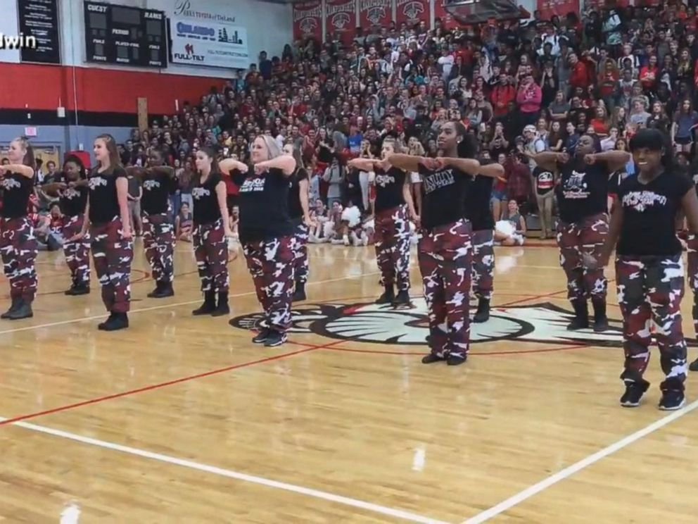 VIDEO: Principal surprises students by joining step team at pep rally