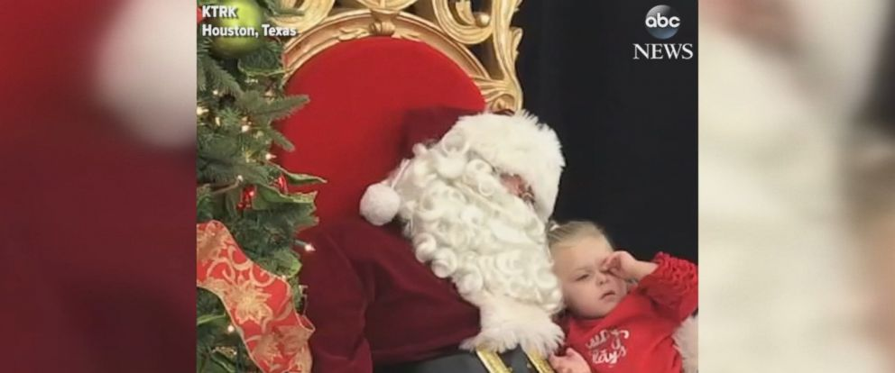 """When Santa asked Linden Bartell from Trinity, Texas, what she wanted for Christmas, the 2-year-old girl responded, """"I want to take a nap."""""""