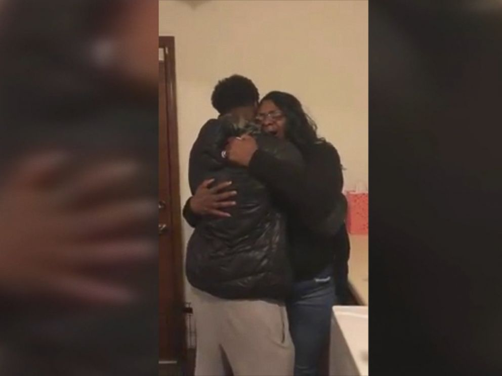 Grant Jackson surprised his mom, Gwen Jackson, returning home for the holidays from his deployment on Dec. 18, and she had the best reaction.