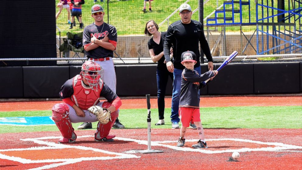 Lio Ortega was given a turn at the plate during a recent college baseball game in El Paso County, Colo.