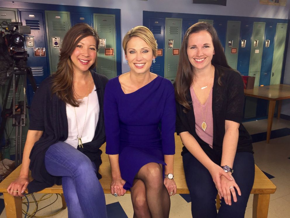 PHOTO: Amy Robach with The Empowerment Project filmmakers Sarah Moshman and Dana Michelle Cook.