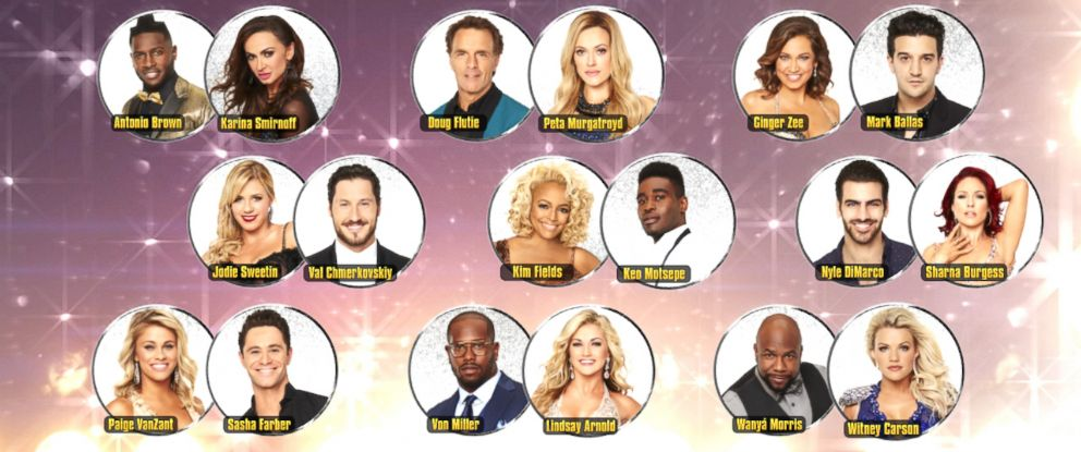 "PHOTO: See the lineup of pairings for ""Switch Up Night"" on ""Dancing With the Stars,"" where each star is paired with a new professional dancer."