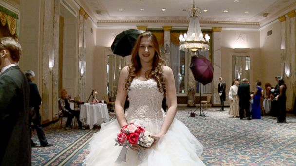 PHOTO: Leah Lane, 16, of New York City is seen here at the International Debutante Ball in New York City.