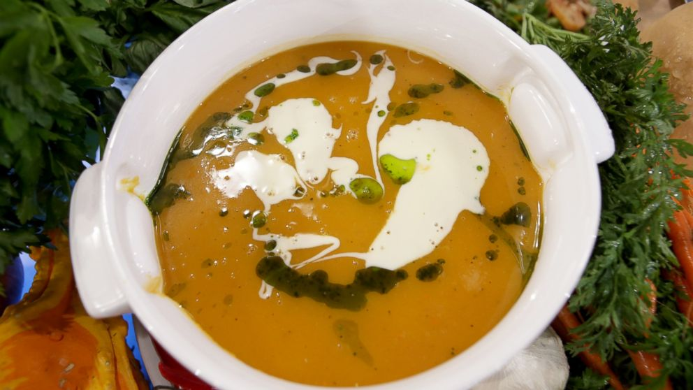 Emeril Lagasse's recipe for Roasted Butternut Squash Soup.