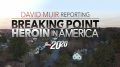 """PHOTO: David Muir reports on heroin in America for a special hour on """"20/20."""""""