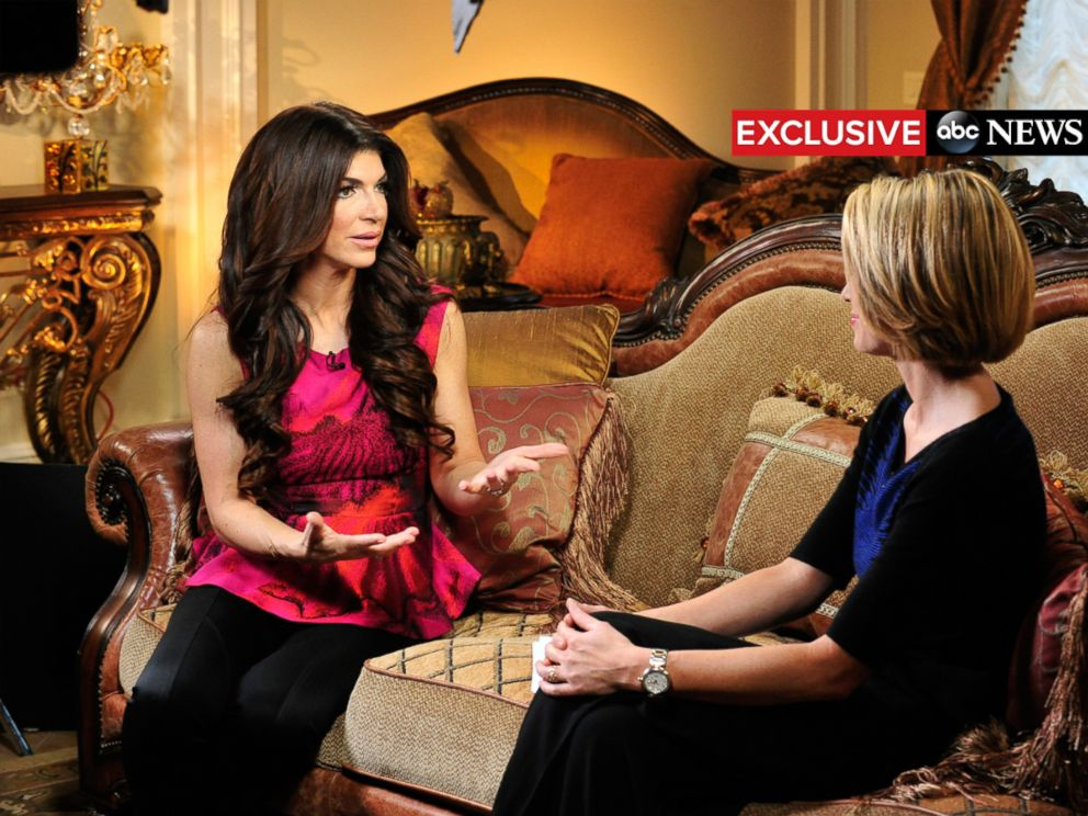 PHOTO: Reality star Teresa Giudice, recently released from prison and serving an ongoing house arrest, talks to Amy Roach from her New Jersey home on Good Morning America. The interview is scheduled to air on Feb. 9, 2016.