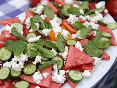Watermelon Tomato Salad | Watermelon Tomato Salad With Feta And Mint Tyler Florence Recipe
