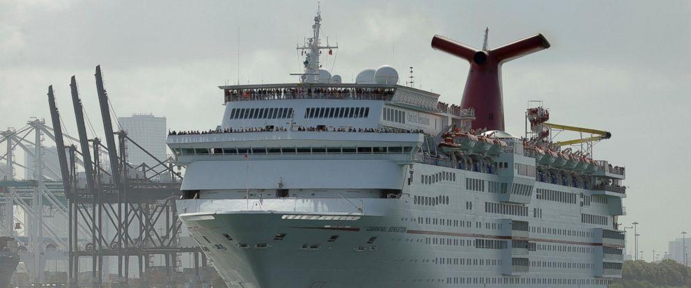 PHOTO: Carnival Sensation cruise ship leaves Port Miami, in Miami Beach, Florida, June 20, 2016.