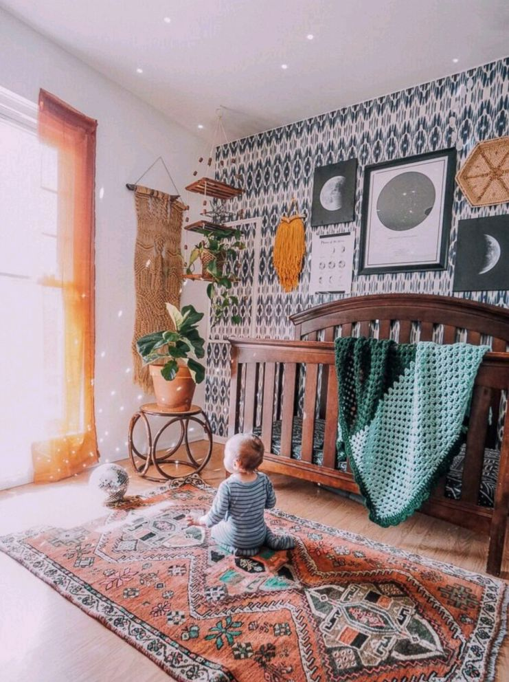 PHOTO: Arianna Danielson of Colorado Springs, Colorado went eclectic bohemian for her son Leos room.