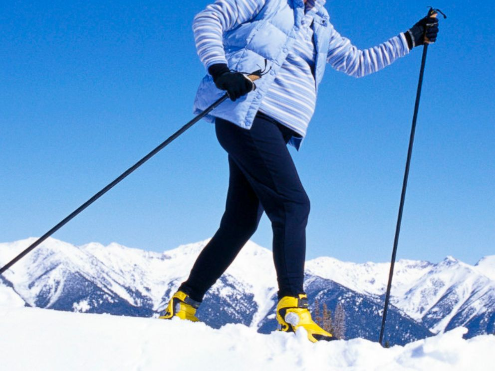 PHOTO: High altitude and risk of falling are two reasons doctors sometimes discourage downhill skiing while pregnant.