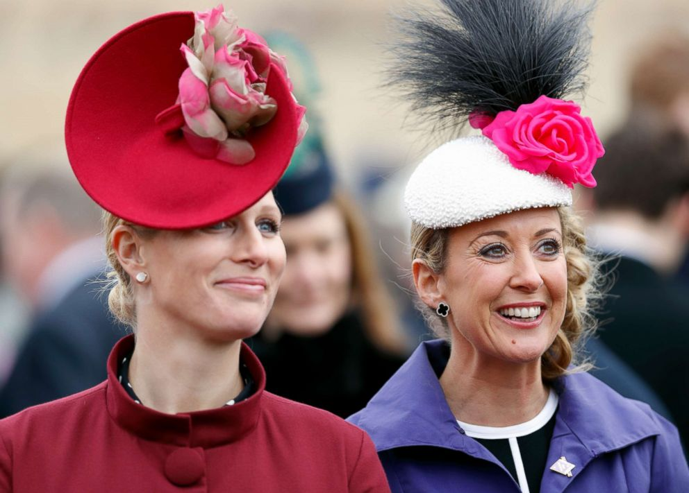 PHOTO: Zara Phillips and Chanelle McCoy attend day 2 Ladies Day of the Cheltenham Festival at Cheltenham Racecourse on March 14, 2018 in Cheltenham, England.
