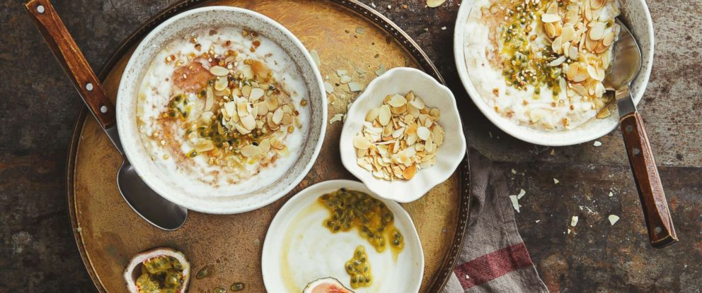 PHOTO: Porridge with passion fruit, honey and almond is pictured in this undated photo.