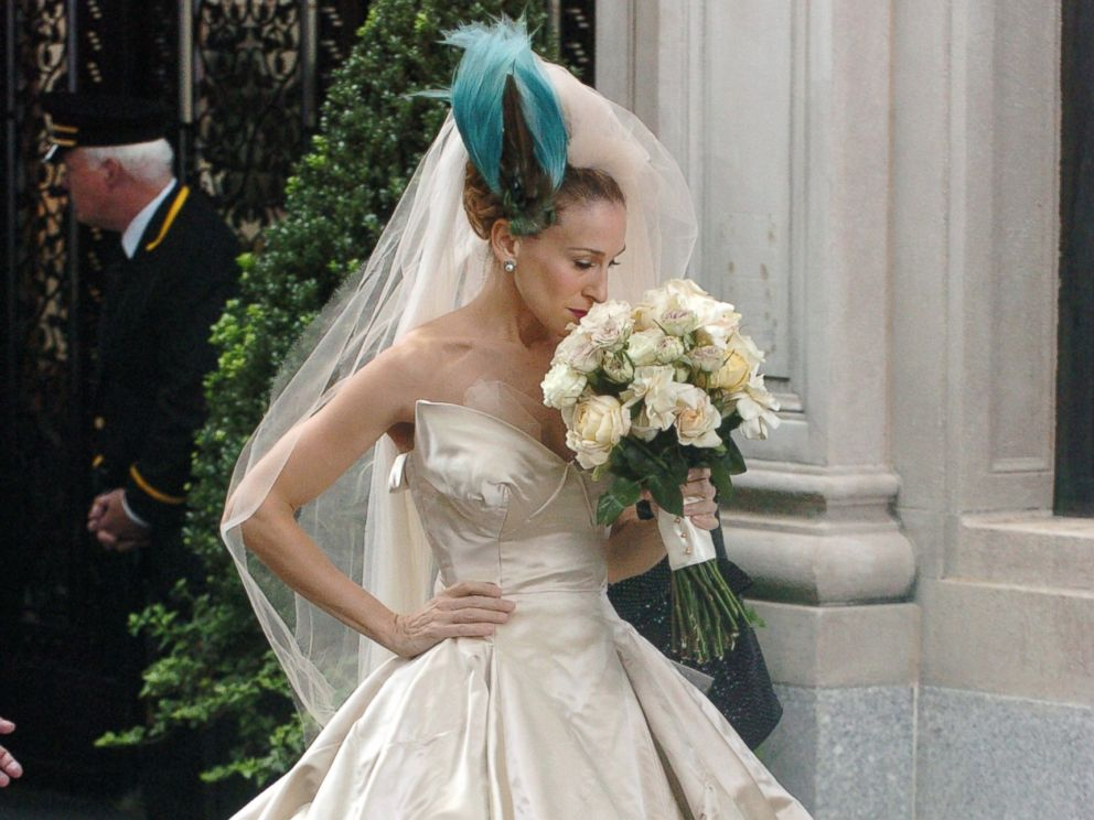 PHOTO Sarah Jessica Parker In A Wedding Dress From The Film Sex And City