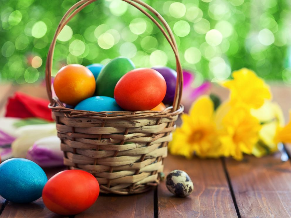 How a bunny baskets and eggs got connected with easter abc news photo basket of painted easter eggs negle Gallery