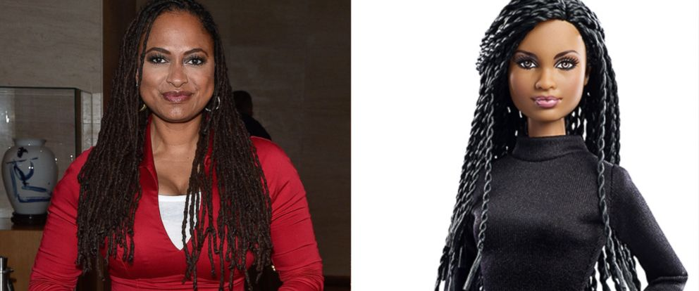 PHOTO: Director Ava DuVernay, is pictured in Toronto, Sept. 13, 2015. Left, Barbies Ava DuVernay doll is pictured in this undated file photo.