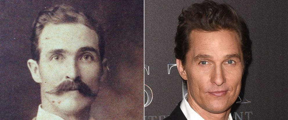 PHOTO: Sanders Parkers great-great grandfather looks exactly like Matthew McConaughey.