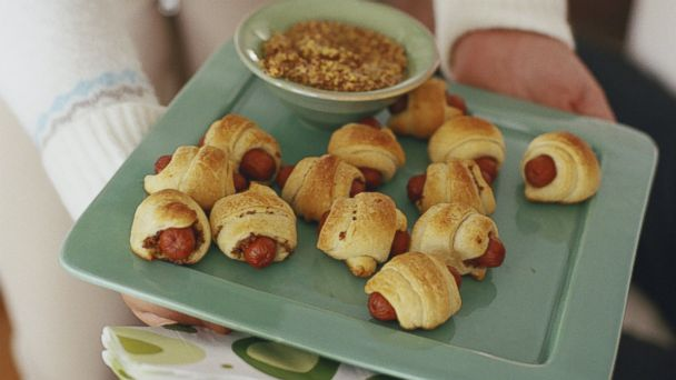 PHOTO: Pigs in a blanket is one of the simple swaps to save calories at a holiday party.