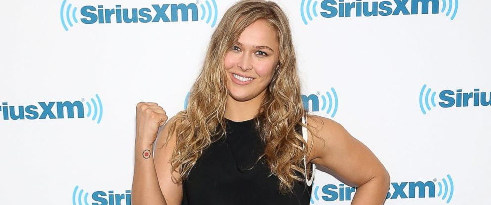 PHOTO: UFC Champion, Ronda Rousey, visits SiriusXM Studios, May 11, 2015, in New York.