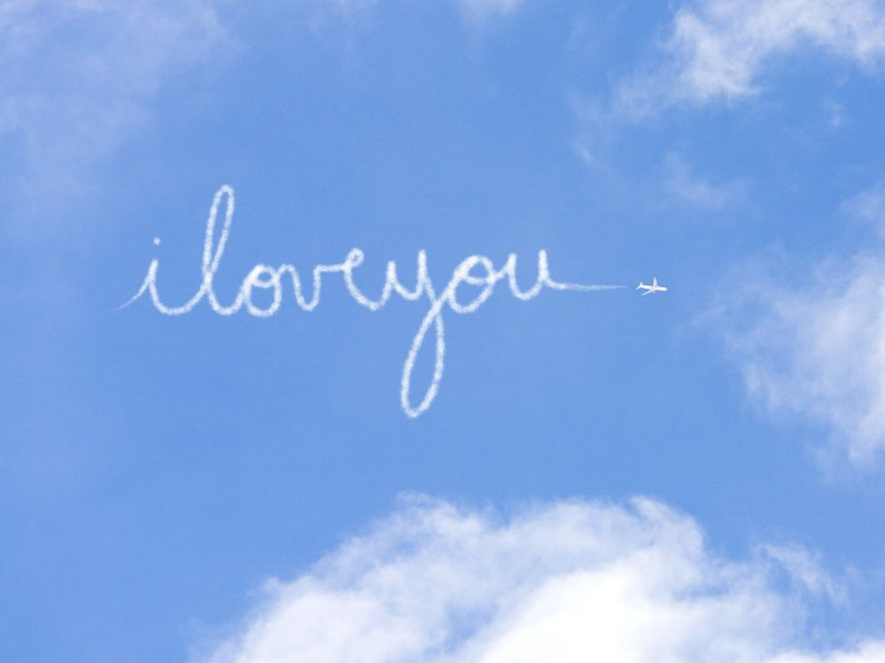 PHOTO: I love you is written in the sky.