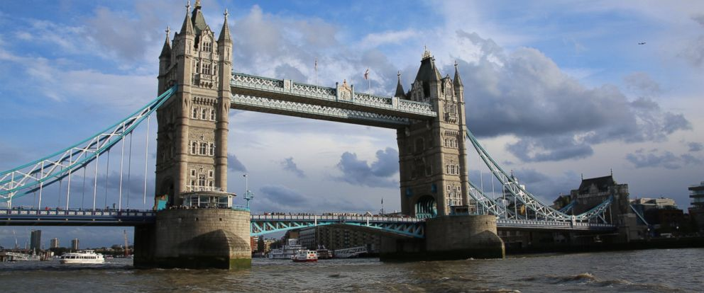PHOTO: The Tower Bridge on the River Thames on October 15, 2016, in London.