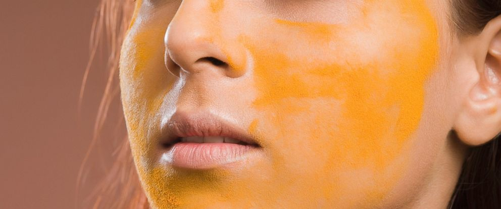 PHOTO: A woman is seen here with turmeric on her face in an undated stock file photo.