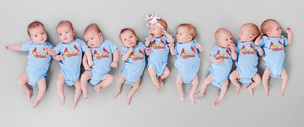 PHOTO: A St. Louis doctor delivered three sets of triplets within six weeks, and also connected the mothers for emotional support.