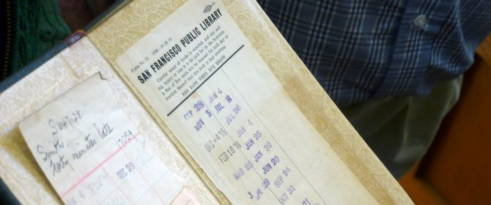 PHOTO: The book Forty Minutes Late was 100 years overdue when it was returned to the San Francisco Public Library.