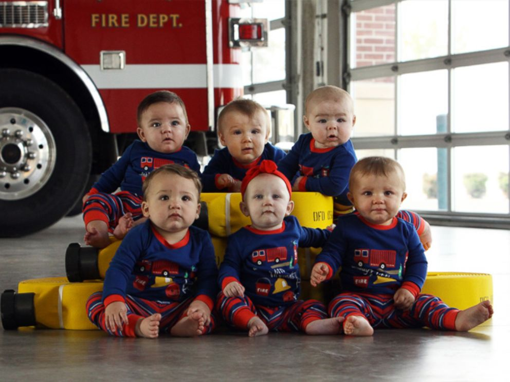 6 Babies Born to Firefighters Pose for Precious Fire Station ...