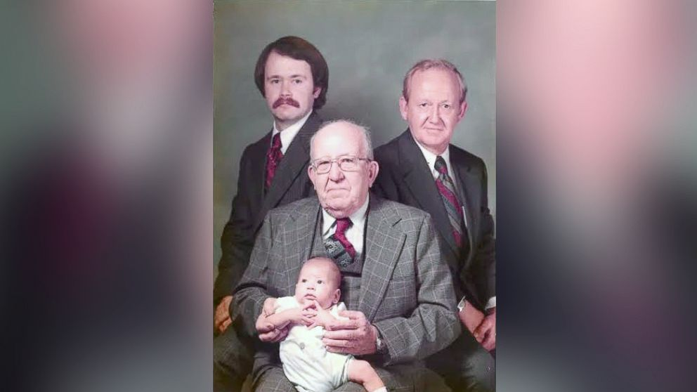 Four generations of men in the Settle family.