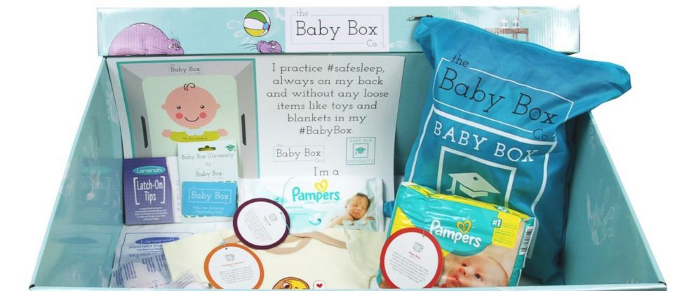 PHOTO: The Baby Box Companys packages include a variety of supplies and products to equip new parents.