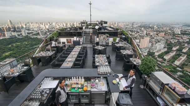PHOTO: This hotel boasts 61 stories, with the Vertigo and Moon Bar perched on the rooftop.
