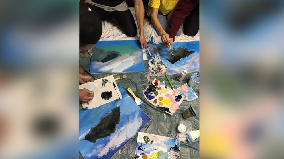 22 Year Old Throws Himself A Bob Ross Themed Painting Birthday Party Abc News
