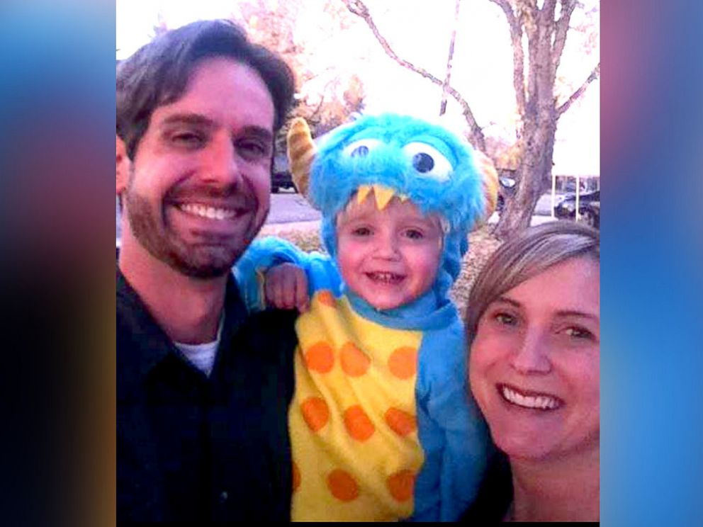 PHOTO: Jess H. seen with his son Evan and late wife Kellie, in this undated family photo.