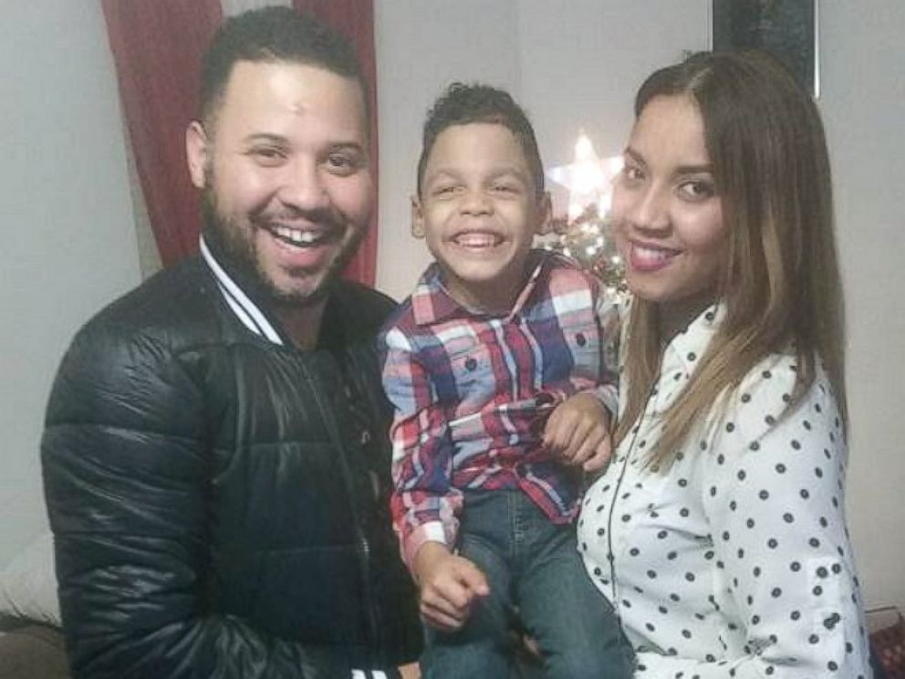 PHOTO: In this undated photo with his mother, Esmarlin Nunez and step-father, Argenis Borbon, Luis Tamarez, 4, took his first steps at North Main Street Elementary School in Pleasantville, New Jersey on Jan. 5, using a mobility device called an Upsee.