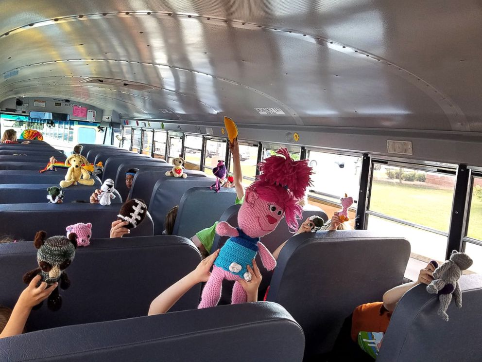 Bus Toys For Girls : Elementary school bus driver crochets toys for every kid