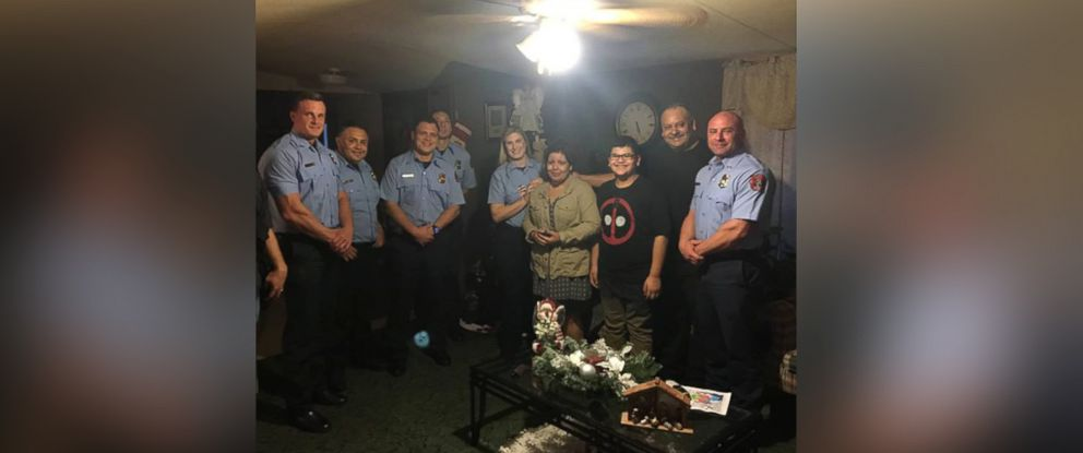 PHOTO: The Channelview Fire Department in Channelview, Texas, surprised Arnulfo Guerra Jr., 12, with a new bicycle and some toys on Dec. 16 after he wrote a letter to Santa asking for a healthy heart for his mom.