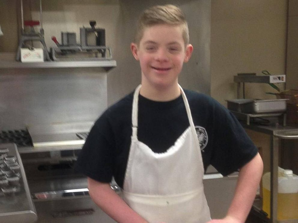 PHOTO: Patricia Truels 12-year-old son John, who has Down syndrome, helps her run their small cupcake shop in Wisconsin.
