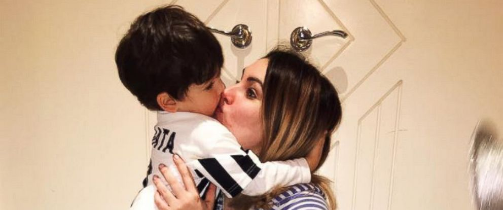 PHOTO: Laura Mazza, who blogs at Mum on the Run, is pictured here with her son.