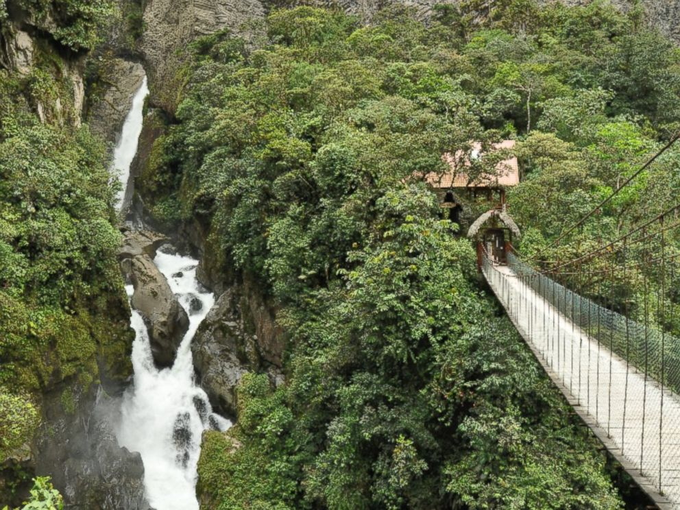 PHOTO: Those at the lodge can also take a stroll near the Pailon del Diablo waterfall. <p itemprop=