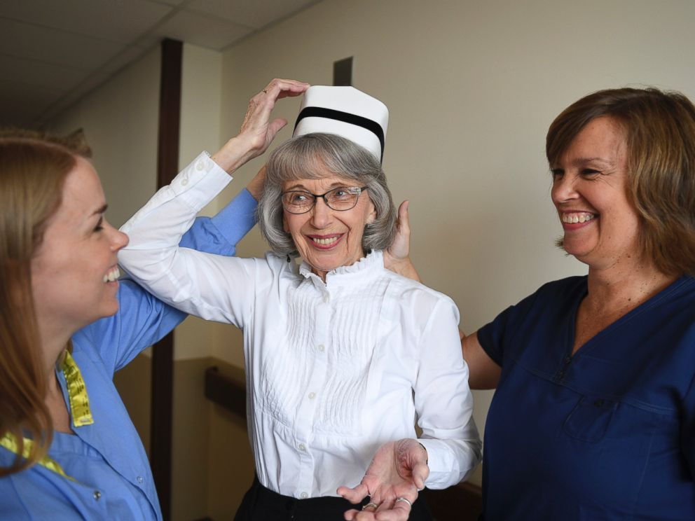 PHOTO: Left to right; Christina Harms, 31, Mary Lou Wilkins, 86, and Sue Hoekstra, 56, are photographed at Spectrum Health in Grand Rapids, Michigan.